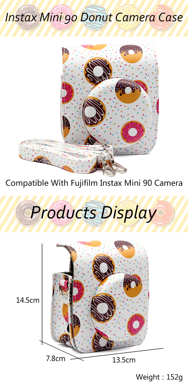 Instax Mini 90 Neo Donut Camera Bag