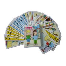 Cartão de papel de impressão personalizado para crianças que brincam
