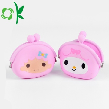 Aangepaste Silicone Cute Clip Coin Purse Poach Groothandel