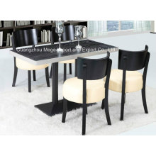 Solid Wood 4 Seaters Hotel Restaurant Dining Table Set (FOH-BCA08)