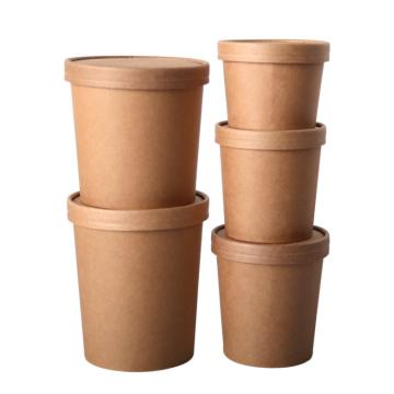 Seau en papier jetable en matériau écologique à paroi unique pour gobelets en papier pour boissons chaudes et froides à emporter gobelet en papier d'emballage alimentaire