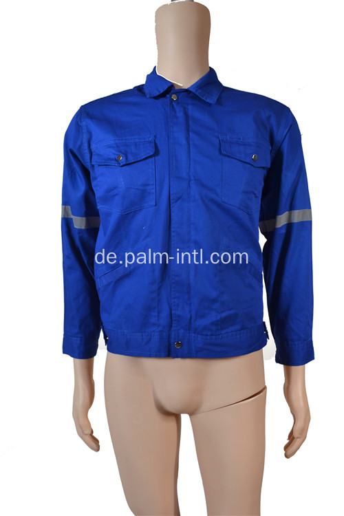 100% Baumwolle Royal Blue Jacke