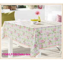 Waterproof PVC Printed Table Runner with Nonwoven Backing for Home