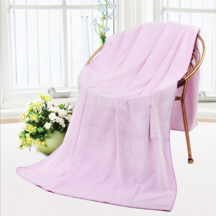 Large White 70/ 140 Microfiber Bath Towel/ Towels