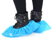 High quality With CE FDA ISO approved laboratory blue disposable CPE plastic shoe covers