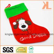 Qualität Stickerei / Applique Samt Gute Doggie Dog Style Strumpf für Dekoration