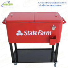73 Liters Trolley Cooler Wheelbarrow Cooler