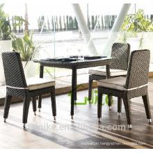 DS-(52) rattan indoor furniture modern square rattan indoor dining table