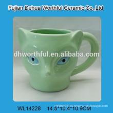 Taza de cerámica directa de fábrica con forma de zorro