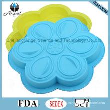 Bakeware del silicón de la flor de DIY para el uso Sc53 del horno del refrigerador y de microonda