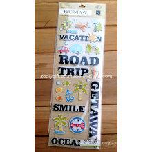 Scrapbook Handmade Paper Craft Travel Adhesive Stickers 3D