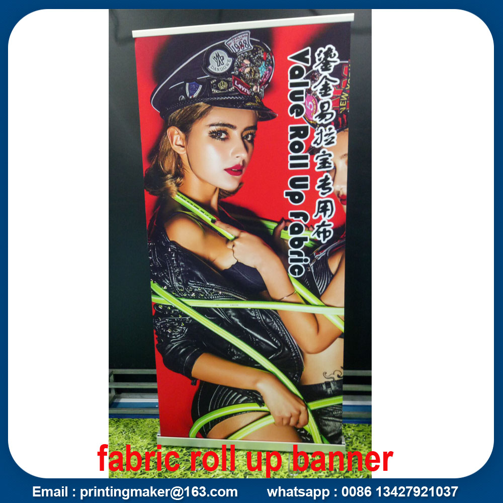 Luxury Roll Up Stativ med tryckt tygbanner
