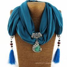 Charme élégant de glands de mode de femmes strass décoré bijoux pendentif embelli bijoux écharpe pour les femmes
