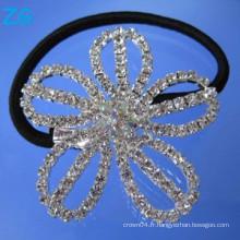 Luxueuse bande de cheveux en cristal, bande de cheveux français, accessoires de cheveux pour filles, bandeaux de fleurs