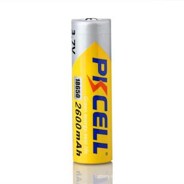 PKCELL brand 18650 3.7V lithium-ion batteries 2600mah E- cigarette battery LR03 alkaline battery AAA 1.5v batteries