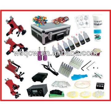 Kit completo de tatuaje con 4 máquinas