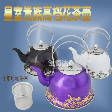 colorful water kettle flower tea kettle with infuser
