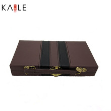Hot Sale Cheap Domino Double 6 in Leather Box