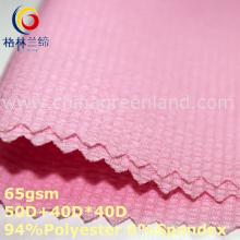 Poliéster spandex chiffon tecido seersucker para camisa blusa (gllml347)