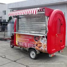 Carro de venta de alimentos móvil fácil de usar