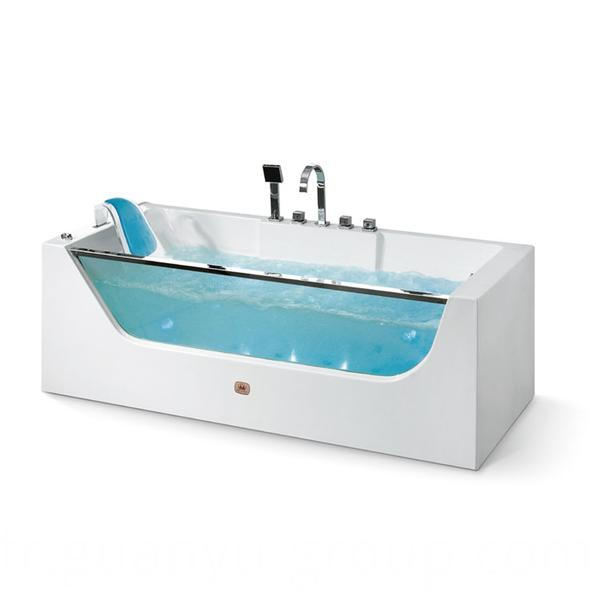Acrylic & Glass Indoor Single Bathtub