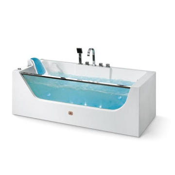 Acrílico y vidrio Single Indoor Bathtub