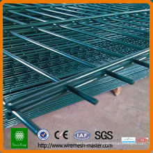 pvc coated steel welded double wire fence