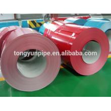 Farbbeschichtete Stahlspule