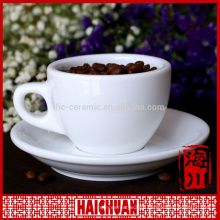 Factory direct white porcelain tea cup and saucer, cup and saucer