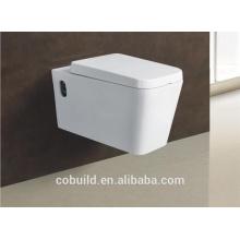 Туалетная комната с ловушкой унитаз бачком стена повиснула туалет прямоугольник подвесной унитаз