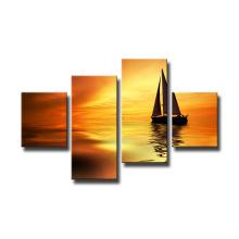 Diseño de moda Impresiones en lienzo de barcos decorativos