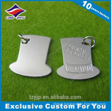 Irregular custom shape factory design stainless steel dog tag