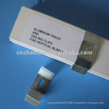 Metal curtain bracket-Aluminium curtain track and ceiling clips for vertical blinds
