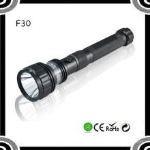 F30 3.7V rechargeable 10W noir Aluminium Tactical Police Xml T6 torche torche LED rouge