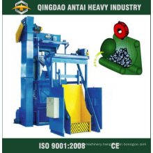 Tumble Shot Blasting Machine with Rubber Belt Conveyor