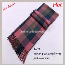2015 nuevos productos de moda bufandas de pashmina fashinable comprobado liso llano perfecto y bufanda del mantón