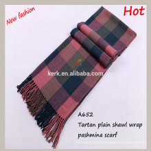2015 new trendy products perfect plain checked fashinable pashmina scarves and shawl scarf