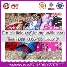 Tejido de poliester al por mayor de la tela común de los colores del poliéster para la sábana