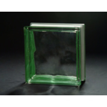 190*190*80mm Green Side-Colored Cloudy Glass Block