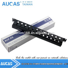 Великая 19-дюймовая стальная стойка для размещения кабелей на 1U для сортировки коммутационного шнура и кабеля LAN