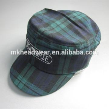 2014 nuevo casquillo de los militares del bordado de la tela escocesa del estilo