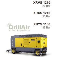 Atlas Copco 1225cfm 25bar Compresor de aire de tornillo portátil