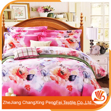 Bedsheet microfiber brushed duvet cover with pillowcase