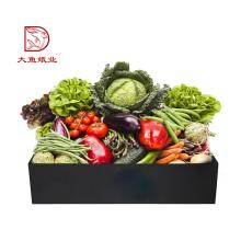Chine logo personnalisé fort noir creative boîte de carton de légumes prix
