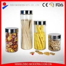 Set 4 Clear Custom Glas Jar Luftdichte Schraube Deckel Kanister