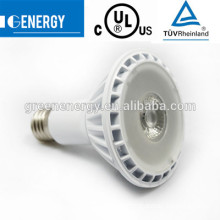 ul led br30 E27 e26 11W 3200k dimmable IP65 super bright cob /smd led spot bulb TUV CE