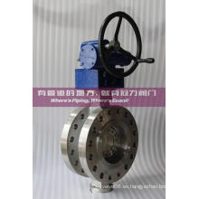 Válvula de mariposa CF8M de presión alta y triple compensación Class600