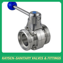 DIN Sanitary Butterfly Valves Male end