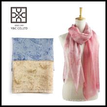 Echarpe en coton en soie élastique multicolore élastique Printemps et été