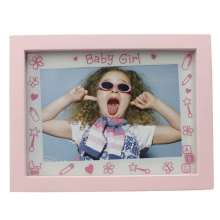 Baby 4x6inch Pink Plastic Photo Frame For Girl